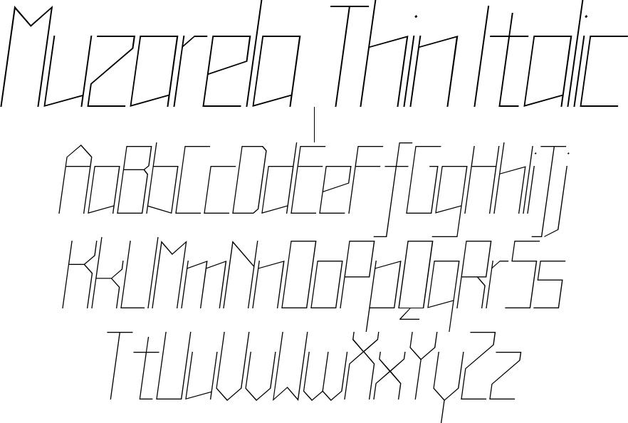 Muzarela Thin Italic