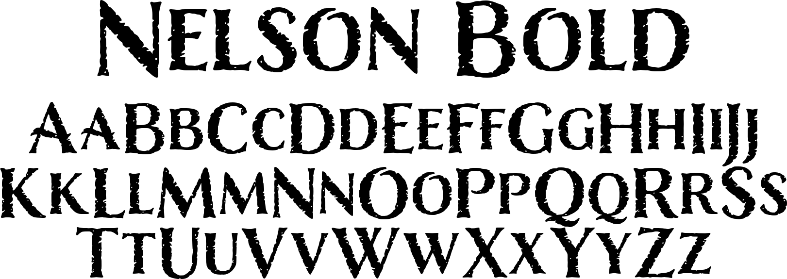 Nelson Bold Font by Laura Worthington : Font Bros