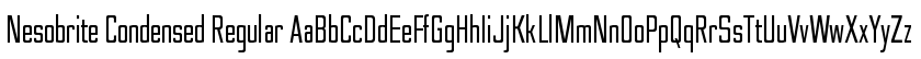 Nesobrite Condensed Regular