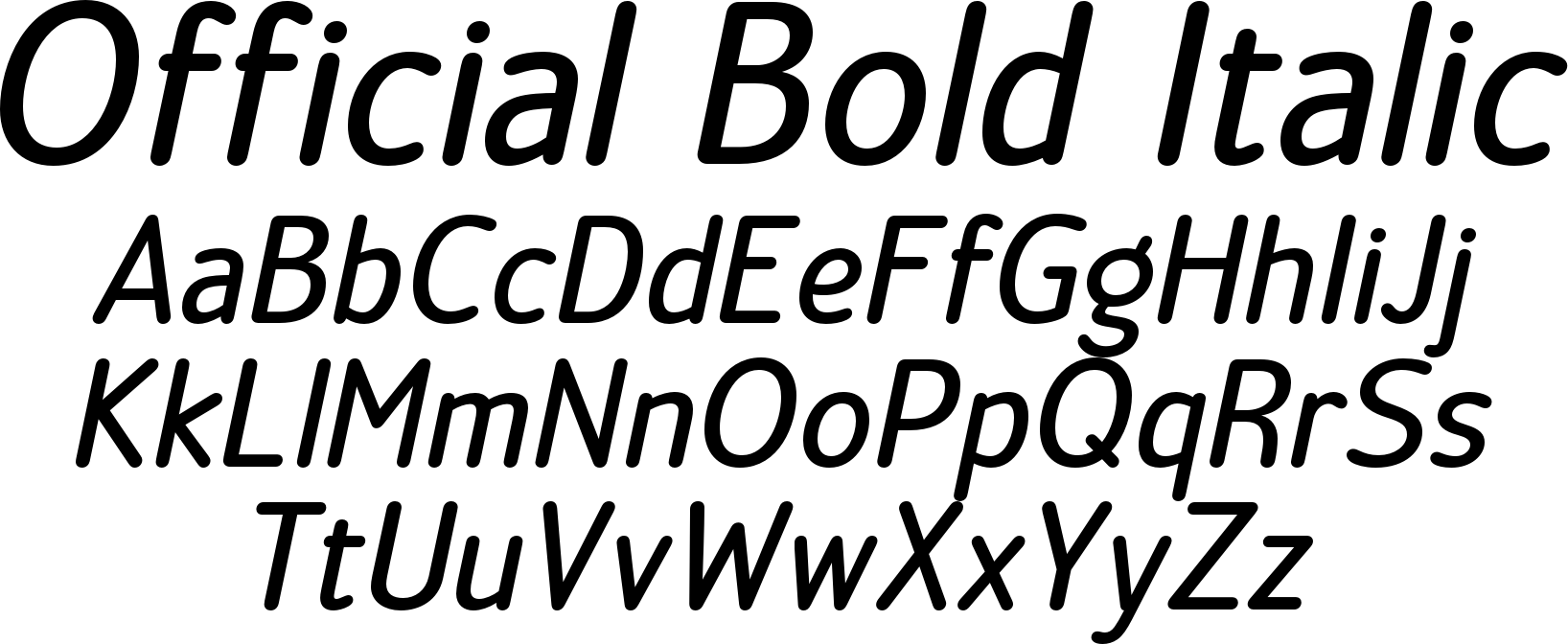 Official Bold Italic