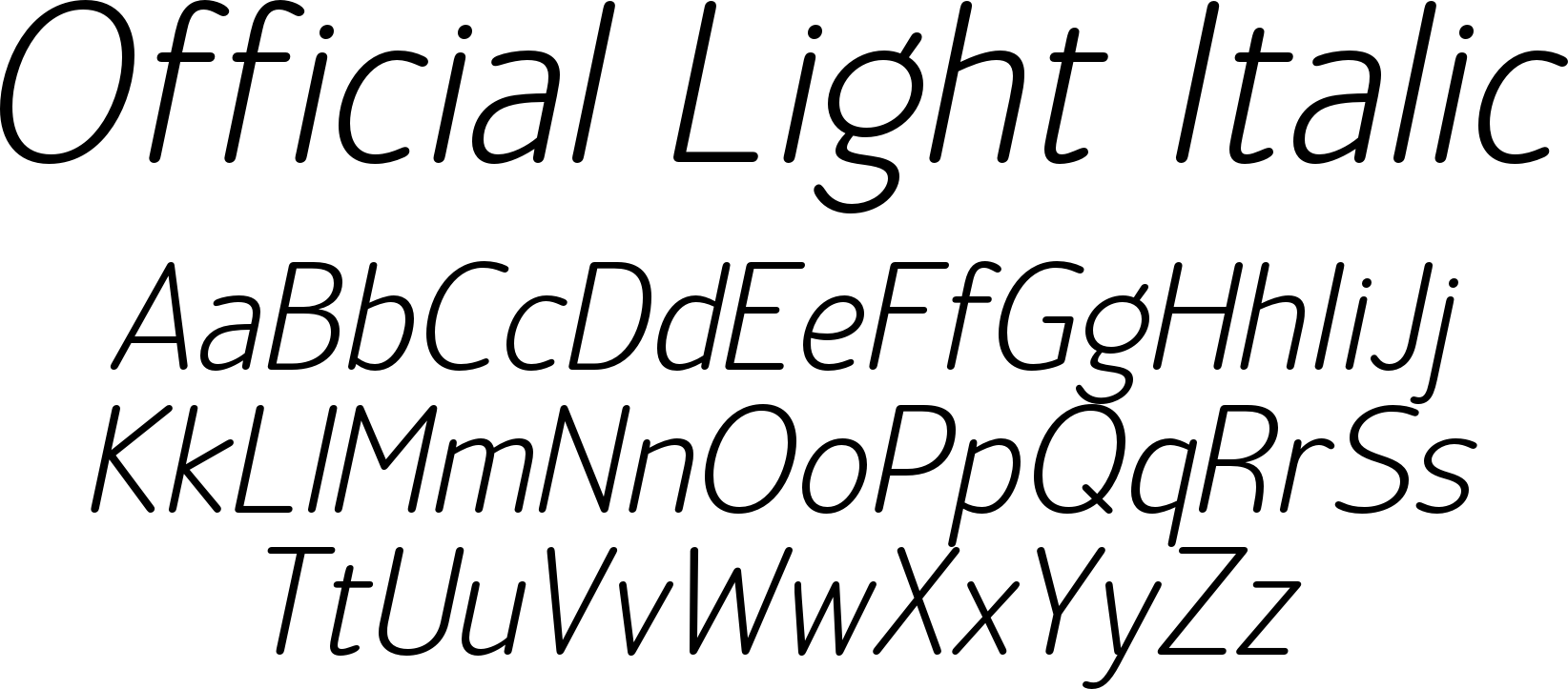 Official Light Italic