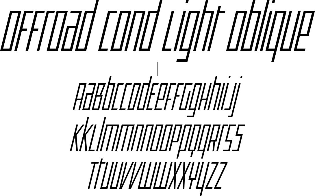 Offroad Cond Light Oblique