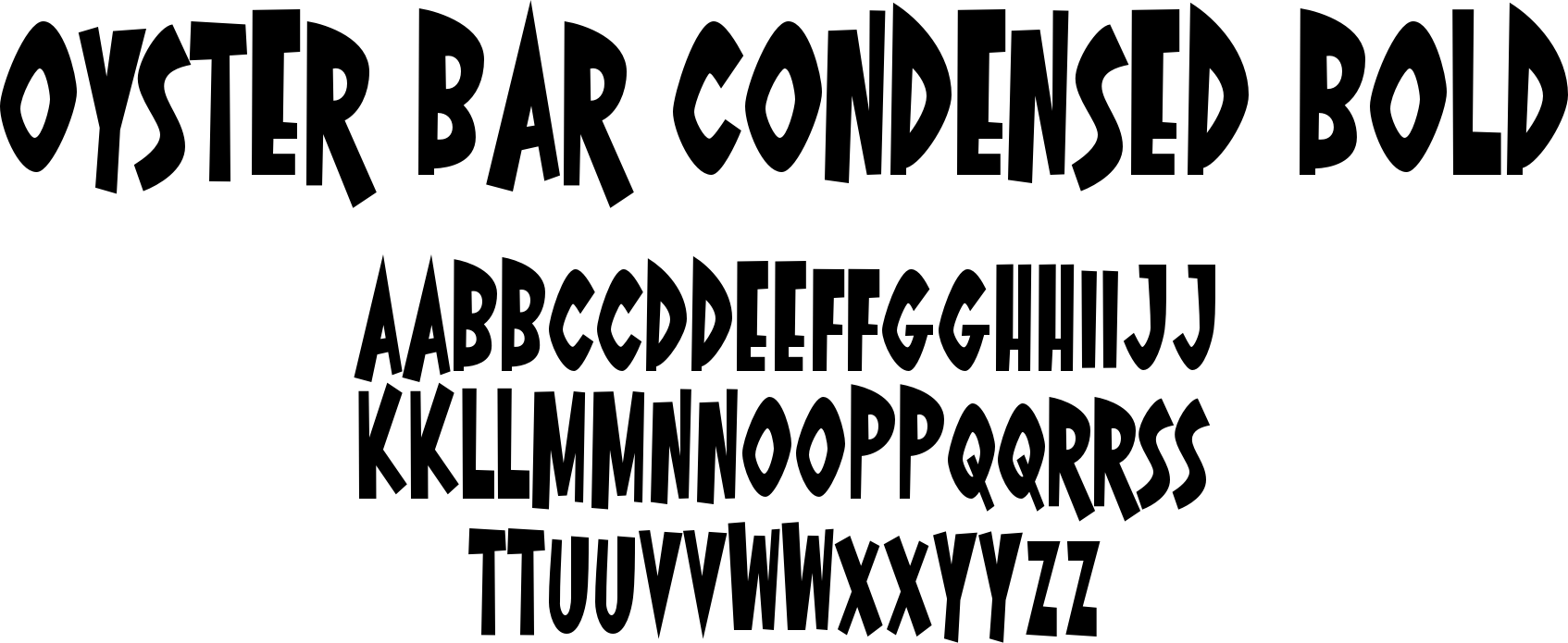 Oyster Bar Condensed Bold