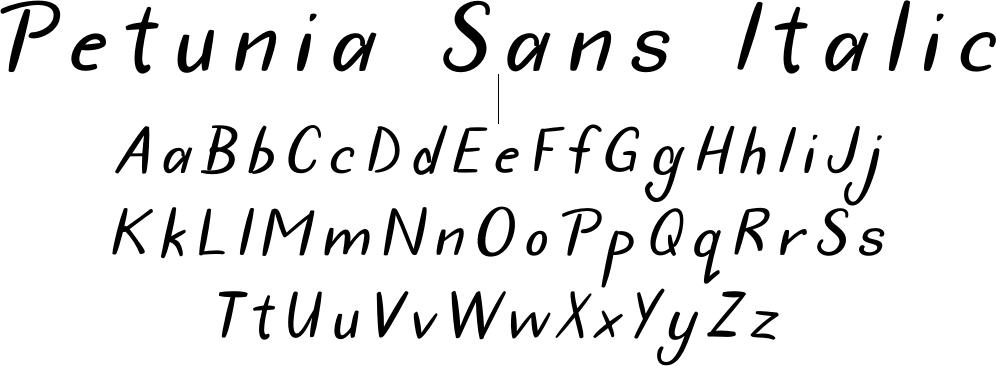 Petunia Sans Italic