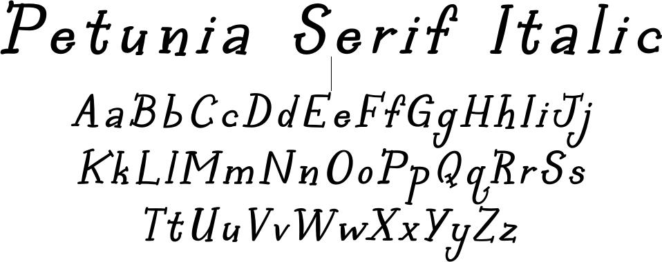 Petunia Serif Italic