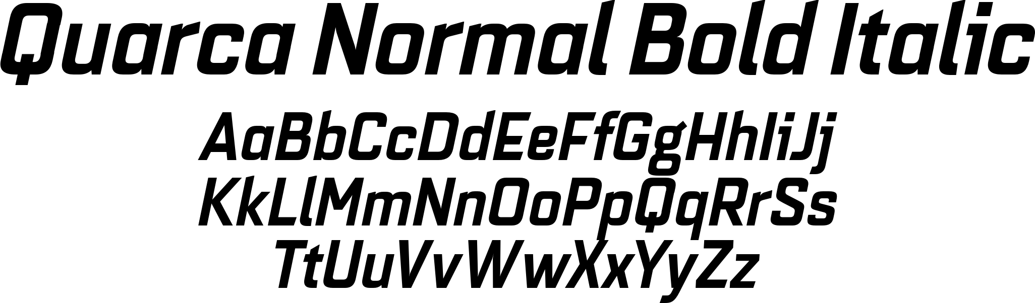 Quarca Normal Bold Italic