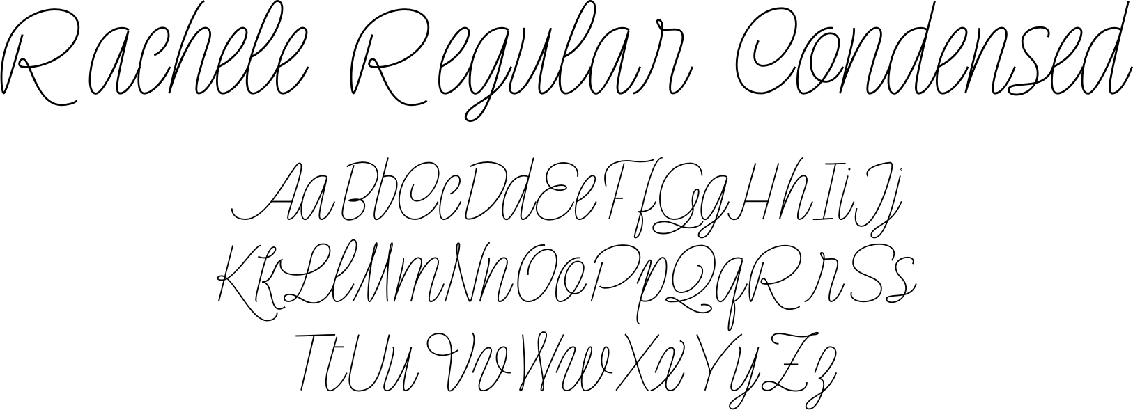 Rachele Regular Condensed