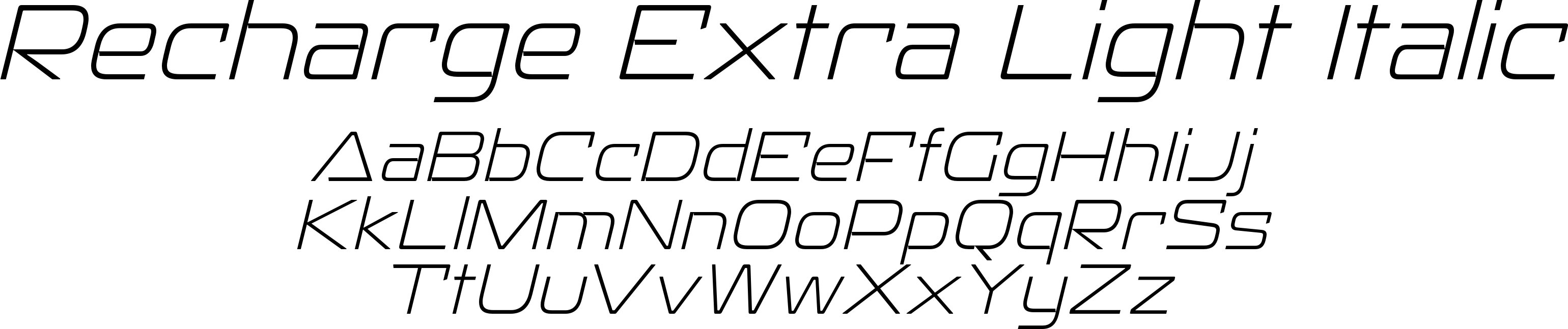 Recharge Extra Light Italic
