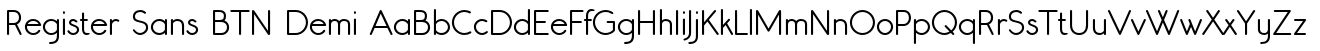 Register Sans BTN Demi