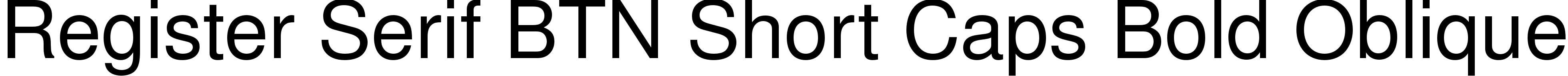 Register Serif BTN Short Caps Bold Oblique