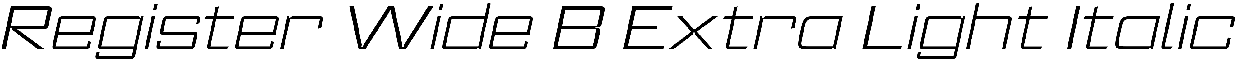 Register Wide B Extra Light Italic