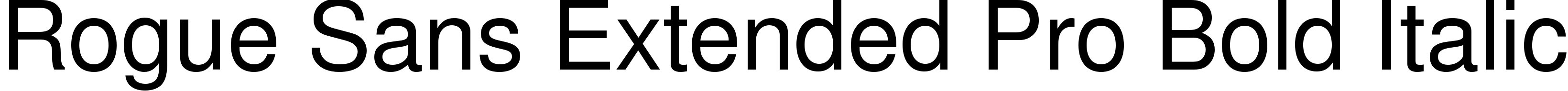 Rogue Sans Extended Pro Bold Italic