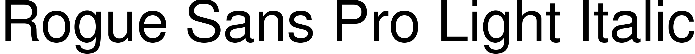 Rogue Sans Pro Light Italic