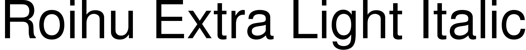 Roihu Extra Light Italic