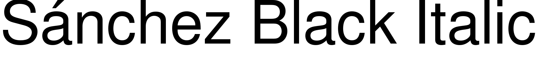 Sánchez Black Italic
