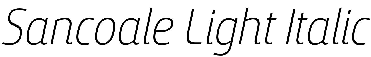 Sancoale Light Italic