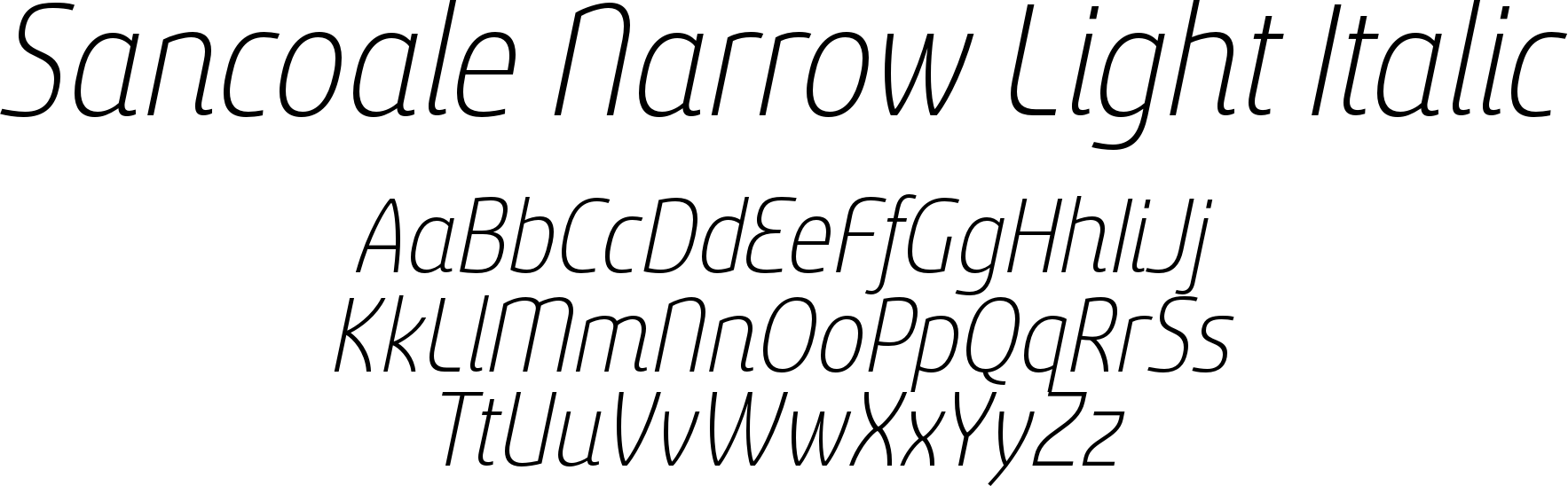 Sancoale Narrow Light Italic