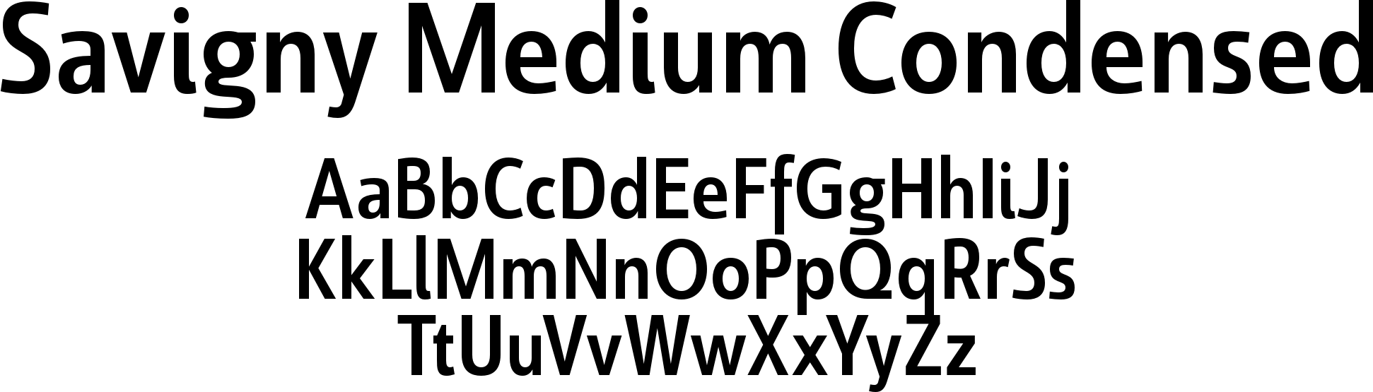 Savigny Medium Condensed