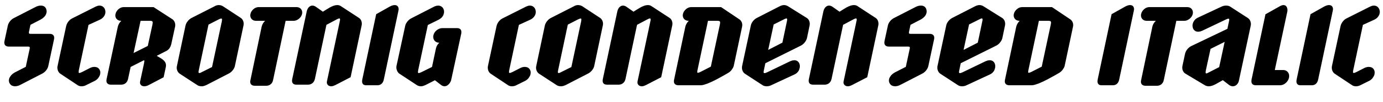 Scrotnig Condensed Italic