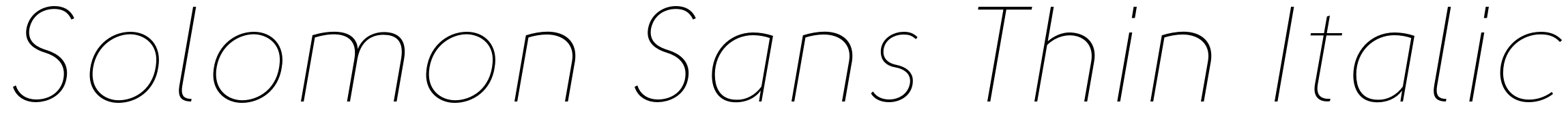 Solomon Sans Thin Italic