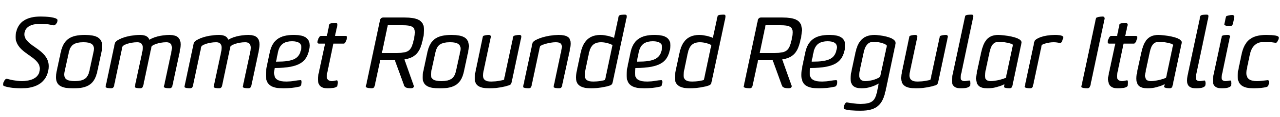 Sommet Rounded Regular Italic
