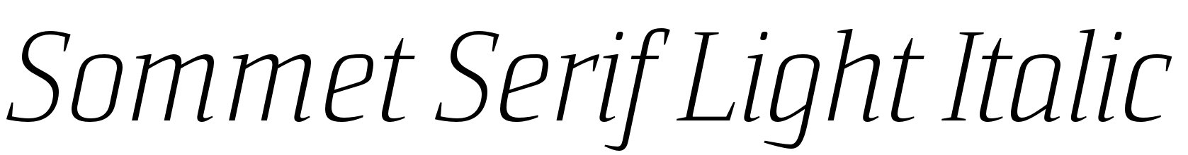 Sommet Serif Light Italic