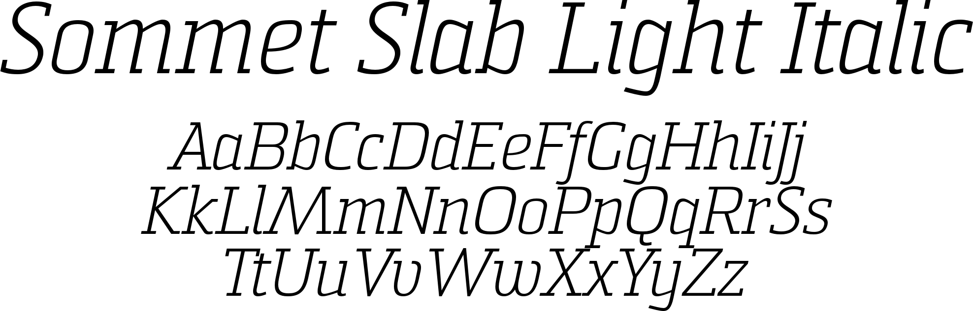 Sommet Slab Light Italic