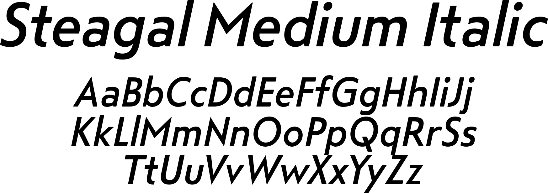 Steagal Medium Italic
