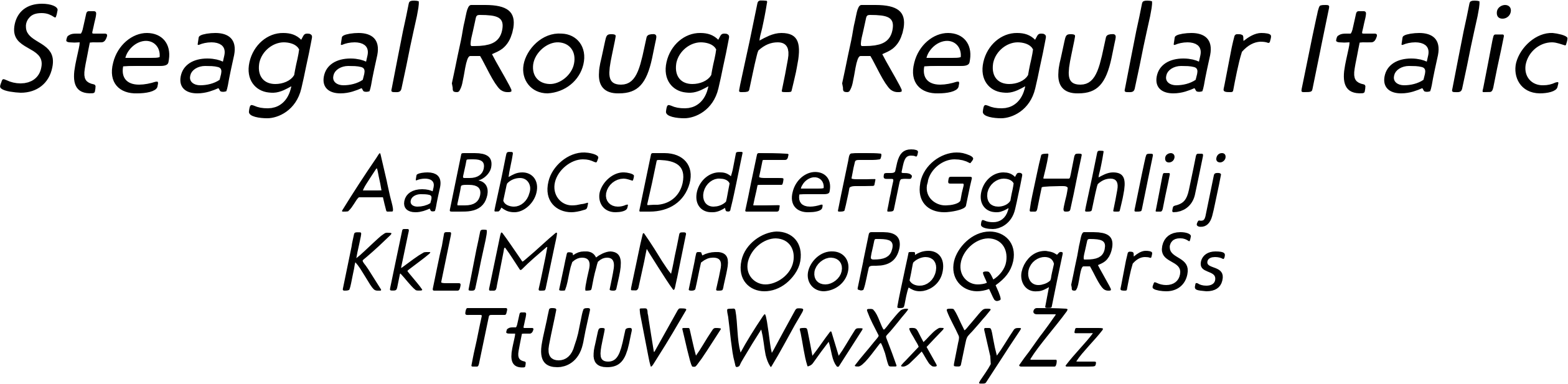 Steagal Rough Regular Italic