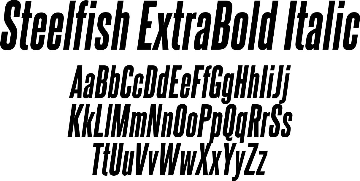 Steelfish ExtraBold Italic