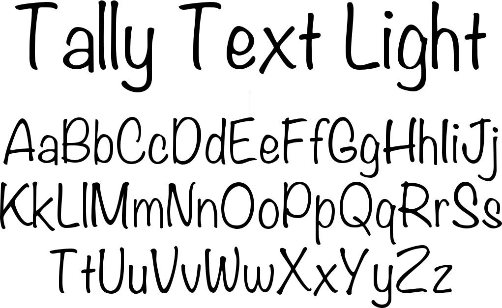 Tally Text Light