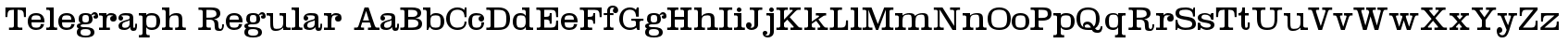 Telegraph Regular