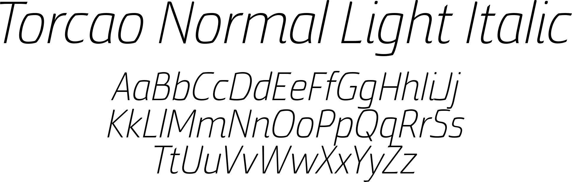 Torcao Normal Light Italic