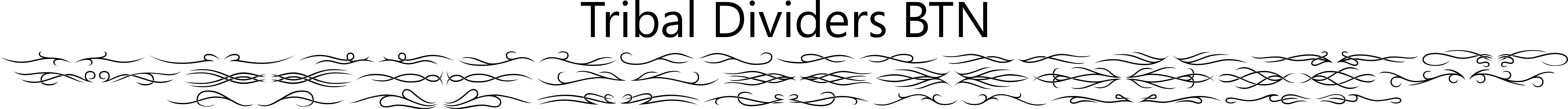 Tribal Dividers BTN