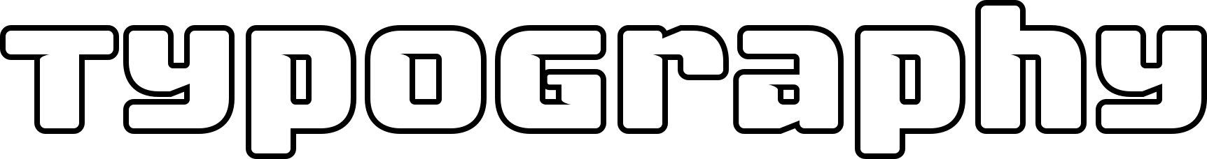 Fuel Uni Outline Font by VersusTwin : Font Bros