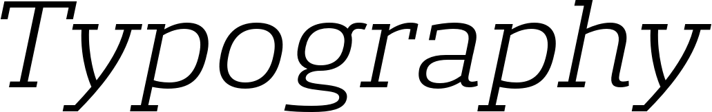 Sancoale Slab Extended Regular Italics