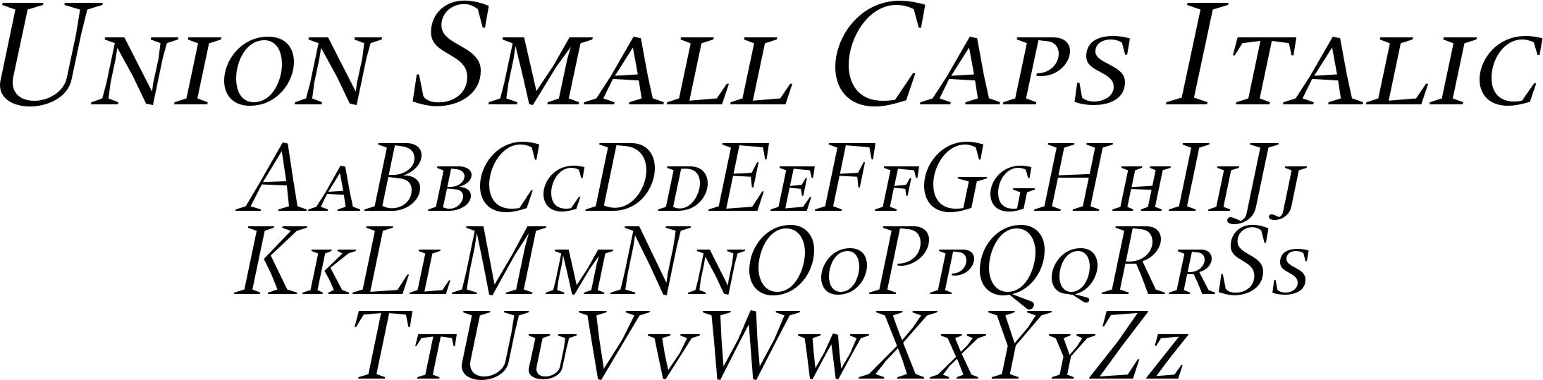 Union Small Caps Italic