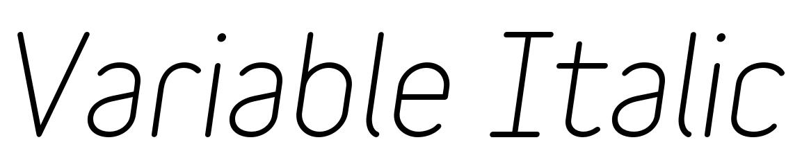 Variable Italic