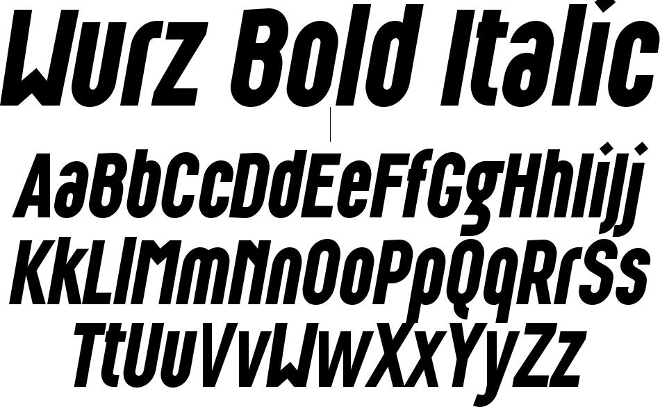 Wurz Bold Italic